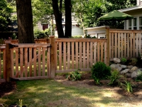 Cedar Spaced Picket Fence