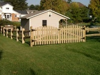 Picket Gates on Split Rail