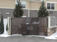 Dumpster Gates with Privacy Slats