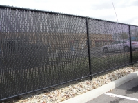 Black Chain link with Privacy Slats