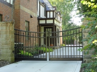Ornamental Double Gate with Single Concave Arch with Quad Finials EFF-25