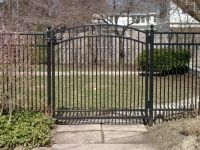 "Ornamental Single Arched Gate with 1 5/8"" Spacing EFF-20"