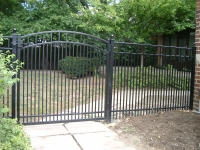 Flat Top with Arched Gate EFF-20 Double Pickets