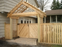 Wood Solid Double Gate with Arbor