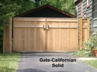 Wood Double Drive Gate-Californian Solid