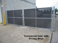 Commercial Gate with Slats