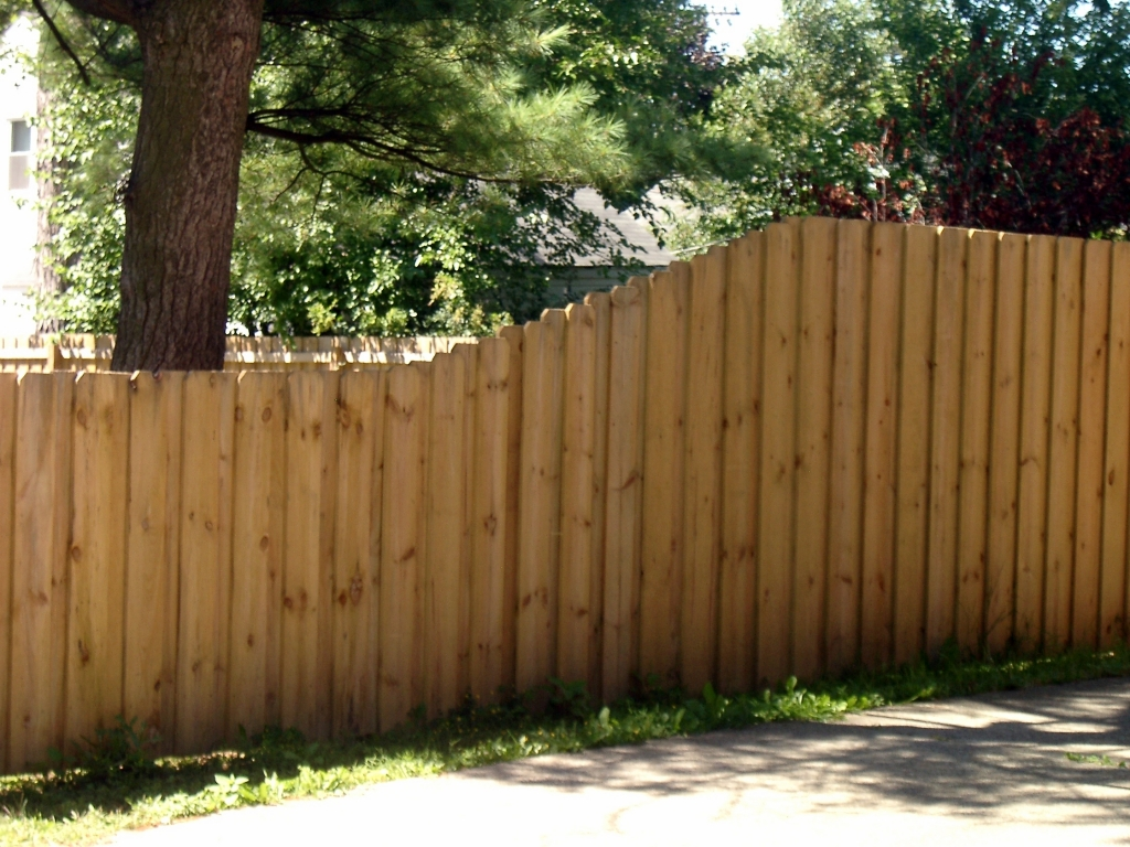 Wood henry fence board over board 4 ft to 6 ft baanklon Images