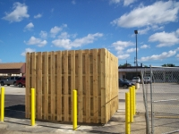 Dumpster Enclosure and Bollards