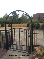 Arbor EFF-20 Arched Gate Double Pickets on Bottom