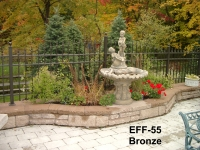 Arched Picket Top EFF-55 Bronze with Quad Finials